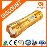 lanterna elétrica recarregável do diodo emissor de luz da luz da pesca da tocha do zoom 200lumen