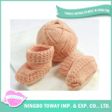 Testes padrões de confeção de malhas do bebê livre fácil Worsted do fio de algodão para peúgas