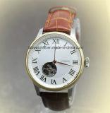 Relojes de moda para hombre de diamantes de las señoras de la manera con el oro plateado