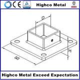 Corrimano e balaustra dell'acciaio inossidabile con la base quadrata