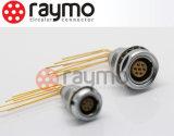 Circulares de presionar y tira del montaje en panel Conector hembra Wire