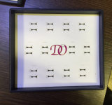 Bandeja negra de lujo 12pairs de la visualización de los anillos de bodas de la bandeja de la visualización de la bandeja de los anillos