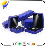 Коробки кольца высокой ранга СИД коробка ювелирных изделий ожерелья серег светящей творческая