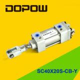 Cylindre pneumatique de cylindre de Dopow Sc40X20-S-CB-Y