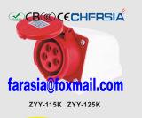 5p 6h IP44 16A Superficie ECE / CEI PP / PA Industrial Socket Montado