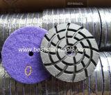 Het Oppoetsende Stootkussen van de Diamant van de Band van het metaal met Klitband (CR26)