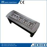 アルミニウム手動回転式表のソケットRJ45 Rj11 VGA