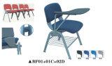 Nützlicher Konferenz-Ineinander greifen-Stuhl mit Schreibens-Auflage und Bücherschrank