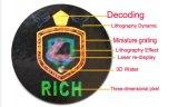 Encargo de la venta caliente Haga su propio holograma Etiqueta, Fondo de plata holograma Etiqueta