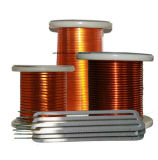 Tipo fino alambre de cobre rectangular esmaltado sinterizado fibra de vidrio del poliester