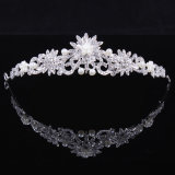 Sparking Crystal Bride Wedding Jewelry Swan Crown Tiara (Dream-100072)