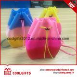 De kleurrijke Rugzak van de Schooltas van Drawstring van het Silicone van Jonge geitjes Mini