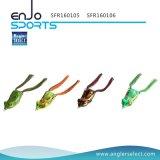 Dos ganchos ocos seletos do equipamento da água da parte superior da atração da pesca da râ do corpo do pescador isca macia baixa que pesca a atração da água fresca (SFR160106)
