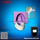 Caucho de silicón dental azul para el molde dental del yeso
