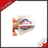 Escritura de la etiqueta tejida marca de fábrica del precio de fábrica del Centerfold para la ropa