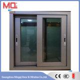 Guichet de glissement en aluminium avec l'écran d'acier inoxydable