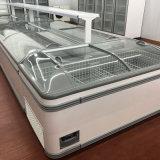 700L Congelador escaparate supermercado puerta corredera de cristal Isla Congelador