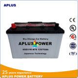 Baterias de veículo de ácido de chumbo padrão do Japão 12V 70ah N70 65D31r