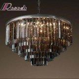Europäischer einfacher Kristallleuchter-hängende Beleuchtung des Hotel-dekorativer Bernstein-LED