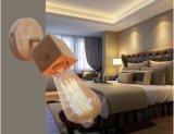 Indicatore luminoso di legno moderno del supporto a mensola con la tonalità di lampada di vetro (KAW1017)