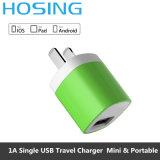pour Samsung Huawei 1 chargeur gauche simple de la course USB du micro USB de chargeur gauche de mur