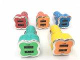 Заряжатель автомобиля USB двойника льда великолепный поверхностный для мобильного телефона
