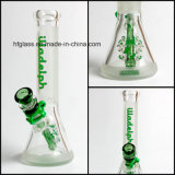 Neuf en verre de Hfy sablé 10 pouces de 7mm d'épaisseur d'Illadelph en verre givré de conduites d'eau de becher de fond de pipe de fumage en verre