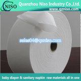 Papel absorvente de Airlaid da seiva para o tecido com preço de grosso da fábrica, distribuidor do bebê