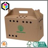 Сильная коробка несущей любимчика бумаги картона коробки верхней части щипца