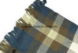 ふさ(ABF22006103)が付いている羊毛アクリルの混ぜられたヤーンによって染められるショール