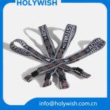 Bracelet personnalisé de jacquard de vente en gros de modèle avec le blocage