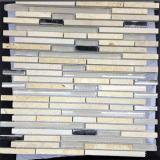 Vetro e Mettere a nudo-Tipo mattonelle della pietra di mosaico per la decorazione della parete