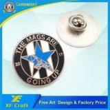 安くカスタマイズした蝶止め金(XF-BG40)が付いているロゴの金属のエナメルPinのバッジを