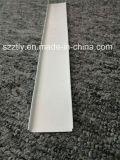 La polvere bianca ha ricoperto il profilo di alluminio della sezione U della lega di 6000 serie