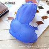 Moulages en caoutchouc adorables de silicones de nourriture de lapin bleu