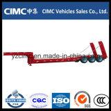 Beste Kwaliteit Cimc Semi Aanhangwagen van het Bed van 3 As de Lage