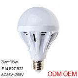 Bulbo do diodo emissor de luz da lâmpada E27 do diodo emissor de luz do plástico 5W do baixo preço de venda direta da fábrica
