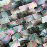 Azulejo de mosaico negro del shell 10*20m m de la fregona del labio