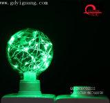 Bulbo colorido especial verde del material G125 G95 G80 del alambre de cobre de los bulbos de la estrella del LED