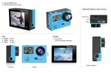 Il PRO telecomando subacqueo WiFi della macchina fotografica 2.4GHz del casco del sensore della videocamera portatile 4k/30fps Ambarella A12 SONY di H8r mette in mostra la macchina fotografica