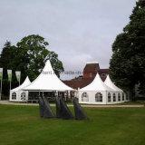الأوروبي 6X6m Outodor الألومنيوم خيمة معبد الإطار مع الأرضيات لحضور حفل زفاف مع بولي كلوريد الفينيل السقف