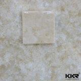 純粋で白いアクリルの固体表面の人工的な石