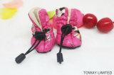 Chaussures imperméables à l'eau d'animal familier de gaine de pluie de crabot de velours de l'hiver