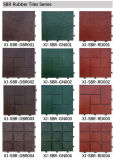 DIY Revestimento de Interlocking Exterior SBR Rubber No Slip Flooring Tile