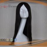 Super lange volle Jungfrau-Haar-Schwarz-Farbe Silk oberste jüdische Shevy Arbeits-Frauen-Perücke