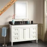 Шкаф ванны тщеты ванной комнаты твердой древесины одиночной раковины самомоднейший