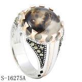 Spätester Entwurfs-Form-Schmucksache-Silber-Ring für Mann