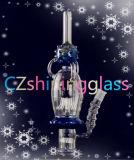 Wundervolles Entwurfs-Glaswasser-Pfeife mit USA-Farbe Czl 01