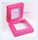 Цветастая коробка ювелирных изделий подарка картона с окном PVC/Pet