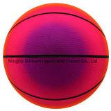 6 Zoll-Regenbogen-Farben-haltbarer federnd Basketball-Sport